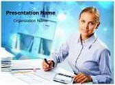 Accountant PPT Presentation Template Background, FreeTemplatesTheme