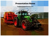 Free Agricultural Machine Tractor PowerPoint Template Background, FreeTemplatesTheme