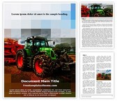 Free Agricultural Machine Tractor Word Template Background, FreeTemplatesTheme
