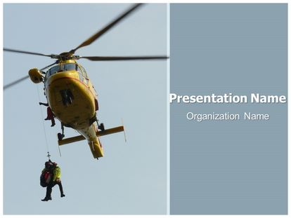 Free Air Ambulance PowerPoint Template   freetemplatestheme.com