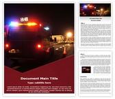 Free Ambulance Emergency Word Template Background, FreeTemplatesTheme