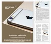 Free Apple Iphone Camera Word Template Background, FreeTemplatesTheme