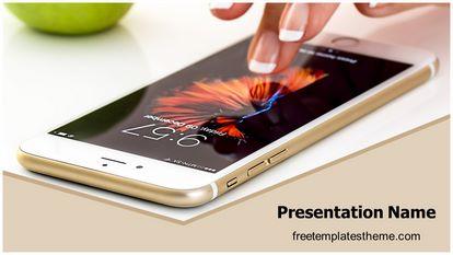 Free apple iphone powerpoint template freetemplatestheme slide1g toneelgroepblik Images