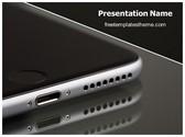 Free Apple Iphone Speaker PowerPoint Template Background, FreeTemplatesTheme