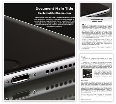 Apple Iphone Speaker Free Word Template Design, freetemplatestheme.com