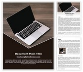 Free Apple Laptop Word Template Background, FreeTemplatesTheme