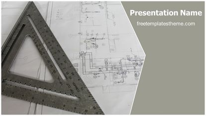 Free architecture blue print powerpoint template slide1g malvernweather Image collections