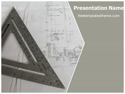 Free architecture blue print powerpoint template slide1g toneelgroepblik Image collections