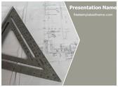 Free Architecture Blue Print PowerPoint Template Background, FreeTemplatesTheme