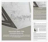 Free Architecture Blue Print Word Template Background, FreeTemplatesTheme
