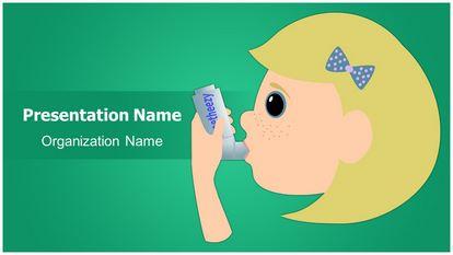 Asthma Inhaler Free Powerpoint Template Widescreen, FreeTemplatesTheme
