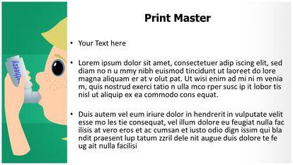 Asthma Inhaler Free Powerpoint Template Widescreen, PPT Slide3