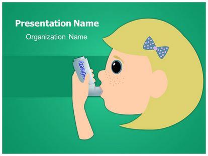 Asthma Inhaler Free Powerpoint Template, freetemplatestheme.com