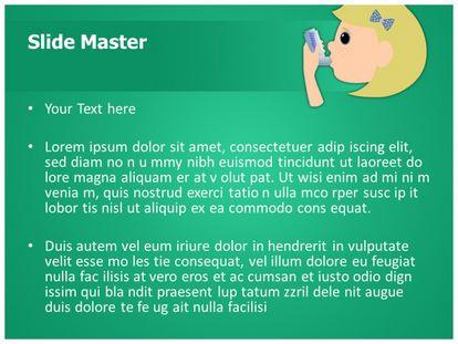 Asthma Inhaler Free Powerpoint Template, PPT Slide2