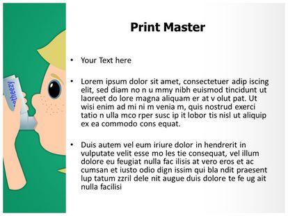 Asthma Inhaler Free Powerpoint Template, PPT Slide3