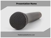 Free Audio Microphone PowerPoint Template Background, FreeTemplatesTheme