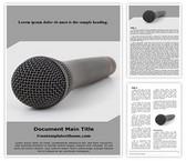 Free Audio Microphone Word Template Background, FreeTemplatesTheme