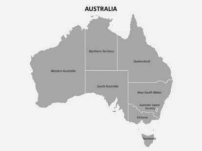 Australia Powerpoint Map, freetemplatestheme.com