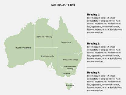 Australia Powerpoint Map, PPT Slide2