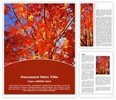 Free Autum Fall Word Template Background, FreeTemplatesTheme