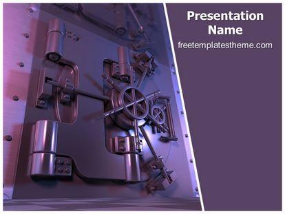 Free Bank Safe Locker PowerPoint Template