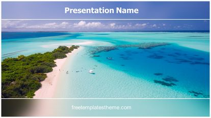 Beach Holidays Free PPT Template Design Widescreen, FreeTemplatesTheme