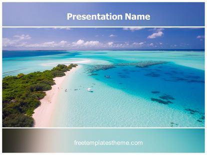 Beach Holidays Free PPT Template Design, freetemplatestheme.com