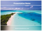 Free Beach Holidays PowerPoint Template Background, FreeTemplatesTheme