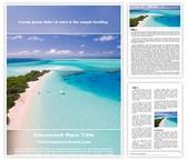 Free Beach Holidays Word Template Background, FreeTemplatesTheme