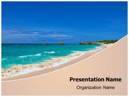 Free beach sea waves powerpoint template freetemplatestheme slide1g maxwellsz