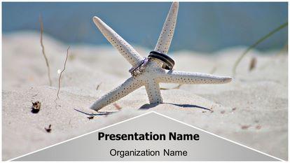 Beach Starfish Free Powerpoint Template Theme Widescreen, FreeTemplatesTheme