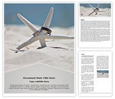 Free Beach Starfish Word Template Background, FreeTemplatesTheme