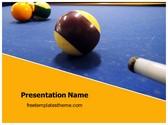 Free Billiards Stick Ball PowerPoint Template Background, FreeTemplatesTheme