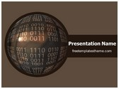 Free Binary Globe PowerPoint Template Background, FreeTemplatesTheme