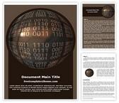 Free Binary Globe Word Template Background, FreeTemplatesTheme