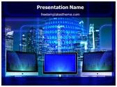Free Binary Monitor PowerPoint Template Background, FreeTemplatesTheme