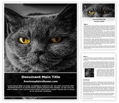 Free Black Cat Word Template Background, FreeTemplatesTheme