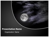Free Black Night PowerPoint Template Background, FreeTemplatesTheme
