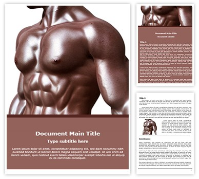 Free Bodybuilder Word Template Freetemplatestheme