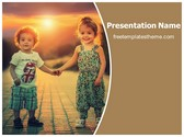 Free Brother Sister Bond PowerPoint Template Background, FreeTemplatesTheme