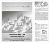 Free Building Architecture Word Template Background, FreeTemplatesTheme