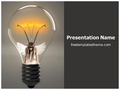 Bulb Energy Free PPT Template Design, freetemplatestheme.com