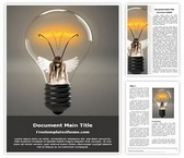 Free Bulb Energy Word Template Background, FreeTemplatesTheme