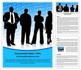 Free Business Team Word Template Background, FreeTemplatesTheme