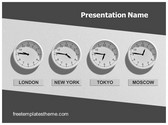 Free Business Timings PowerPoint Template Background, FreeTemplatesTheme