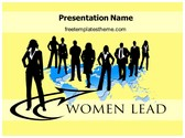 Free Business Woman Leader PowerPoint Template Background, FreeTemplatesTheme