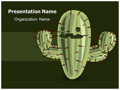 Cactaceae Free Powerpoint Template Theme, freetemplatestheme.com