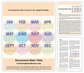 Free Calendar 2018 Word Template Background, FreeTemplatesTheme