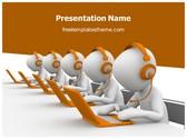 Free Call Center PowerPoint Template Background, FreeTemplatesTheme