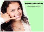 Free Call Me Gesture PowerPoint Template Background, FreeTemplatesTheme
